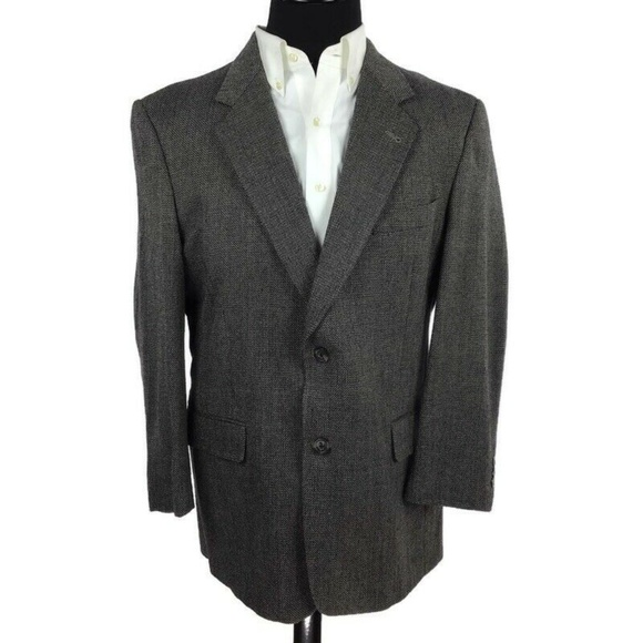 Austin Reed Suits Blazers Austin Reed Black Wool Check Blazer Sport Coat 44r Poshmark